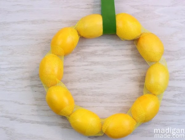 Spring Wreath DIY from dollar store lemons