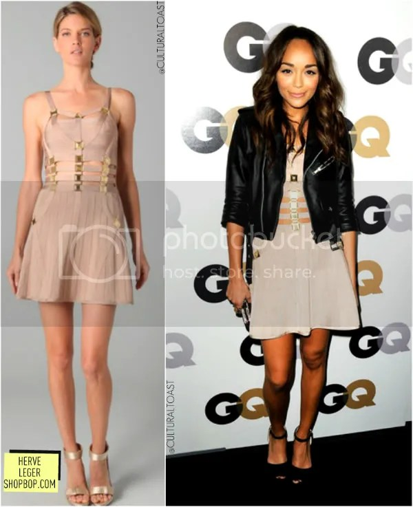 ASHLEY MADEKWE IN HERVE LEGER