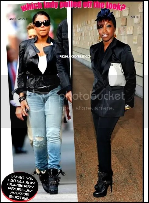 ESTELLE AND JANET IN BURBERRY PRORSUM BOOTIES