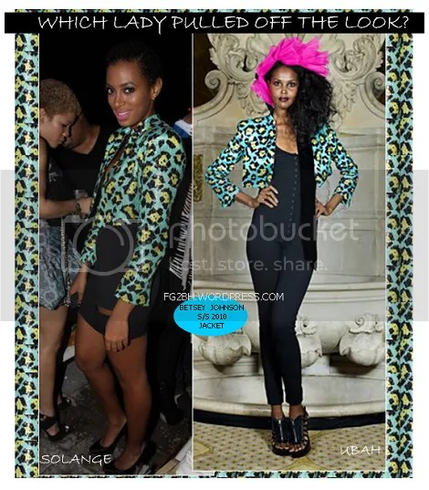 Solange Knowles vs Ubah Hassan in Betsey Johnson