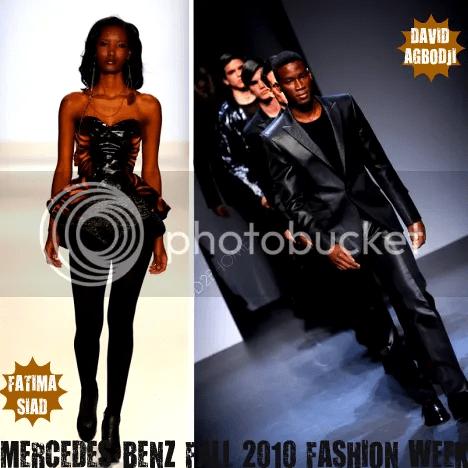 David Agbodji & Fatima Siad At NYC Fall 2010 Fashion Week