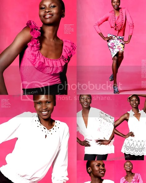 Alek Wek For Macy's Spring 2010 Catalogue