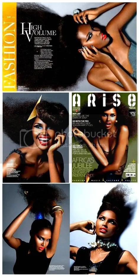 A Peek Inside ARISE Magazine's Issue 8 Photo Shoot Featuring Somalian model Ubah Hassan