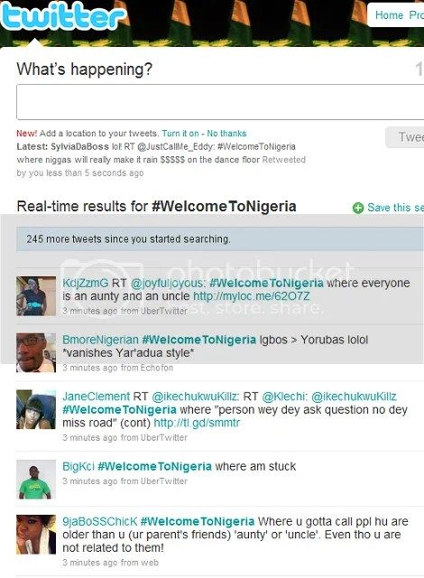 Twitter's New Trending Topic: Welcome To Nigeria Sparks Funny Tweets