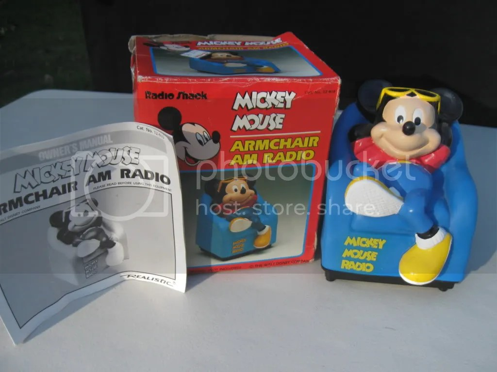 mickey mouse armchair uk french white dining chairs radio shack am collectable in