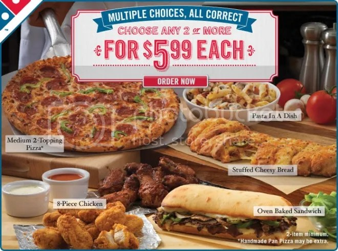 Domino's Pizza $5.99 Value Meal Deal