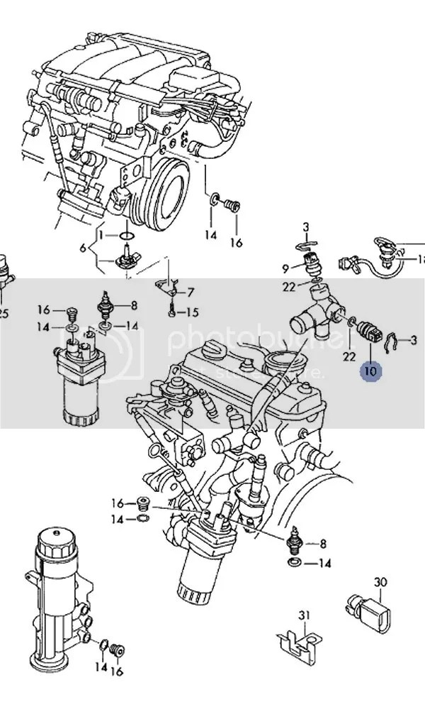 Fuel filter on 2004 Caddy MK3 (SDi)