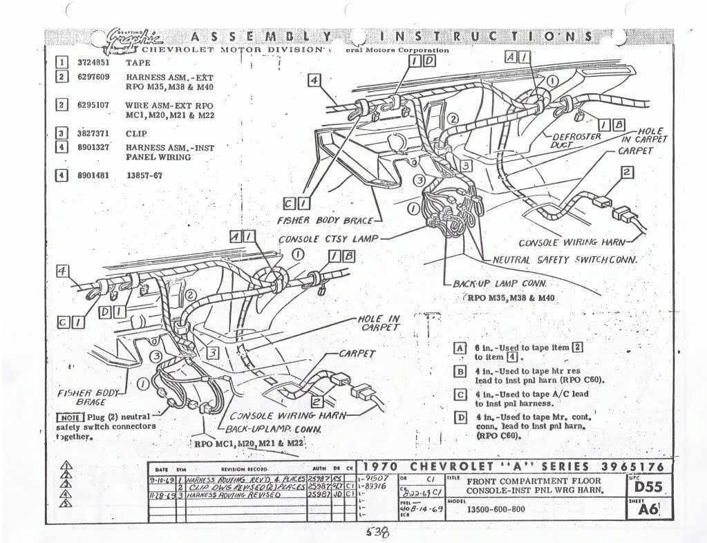 [WRG-8228] 71 Chevelle Center Console Wiring Diagram