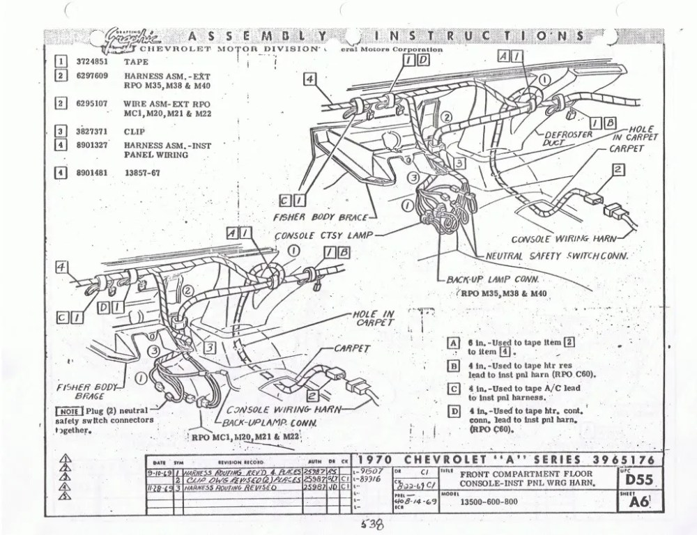 medium resolution of 71 chevelle center console wiring diagram