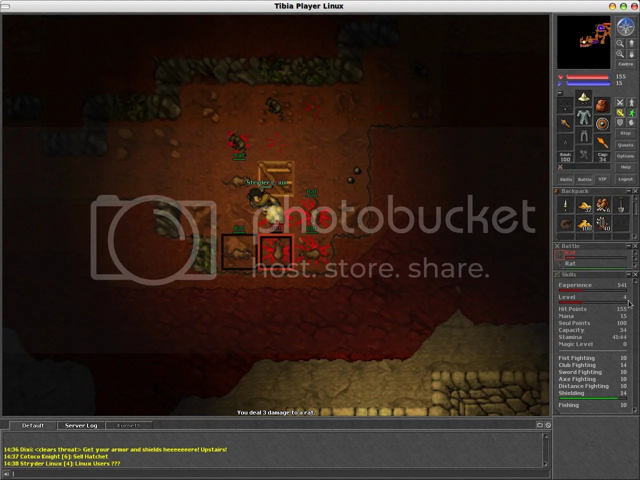 Tibia Linux Player