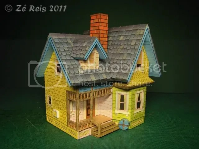 Modelismo na Net  Ver tpico  Carl Flying house  A casa voadora do filme UP Concluda