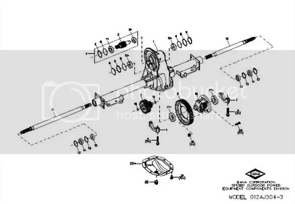 2000 EZ GO TXT rear axle assembly problem