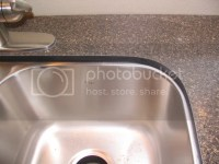 Picture of laminate undermount sink