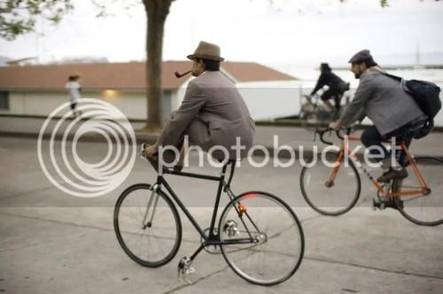 tweed cyclist