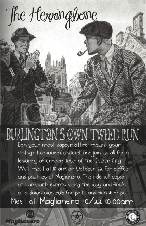 Burlington Vermont Herringbone Tweed Ride Culture Cycles