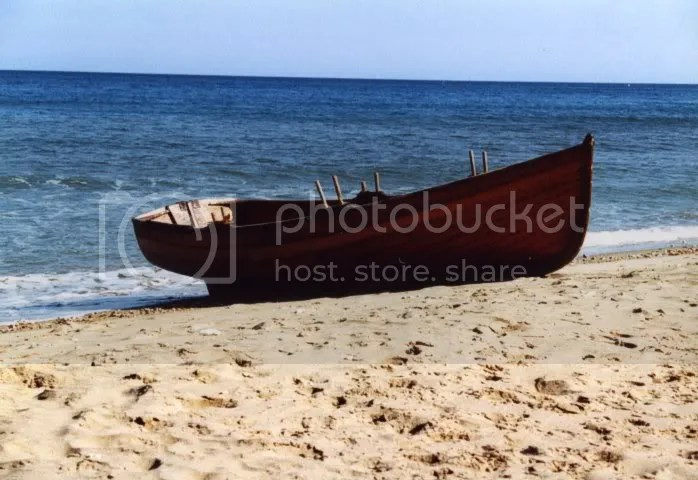 Rowing boat on beach at Shanklin, IOW