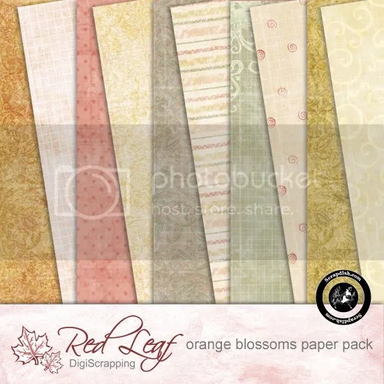 Orange Blossoms Paper Pack