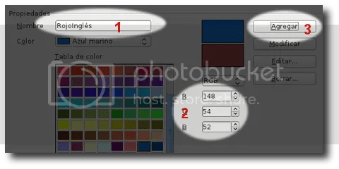 crear color openoffice