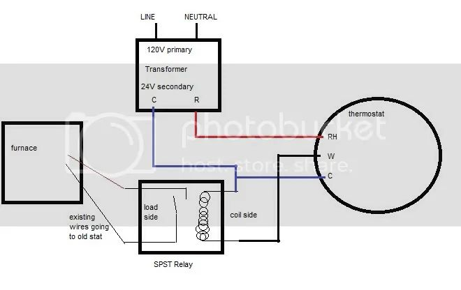 wire diagram for wifi thermostat transformer