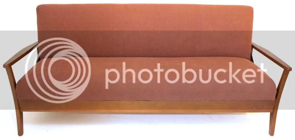 sofa frame creaks sofas for under 200 vintage 70s light teak danish bed settee retro mid ...