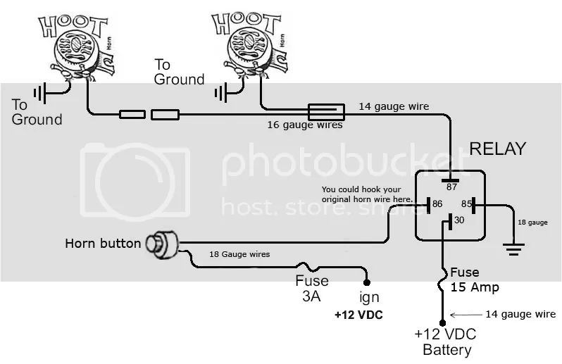 wiring diagram horn scion