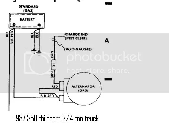 1984 Diagram Chevy Wiring S10 Pu Alternator. . Wiring Diagram