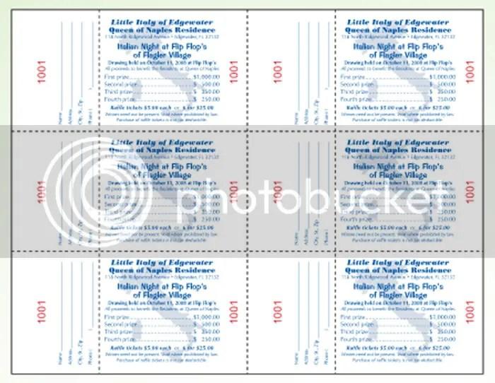 sample raffle sheet templates