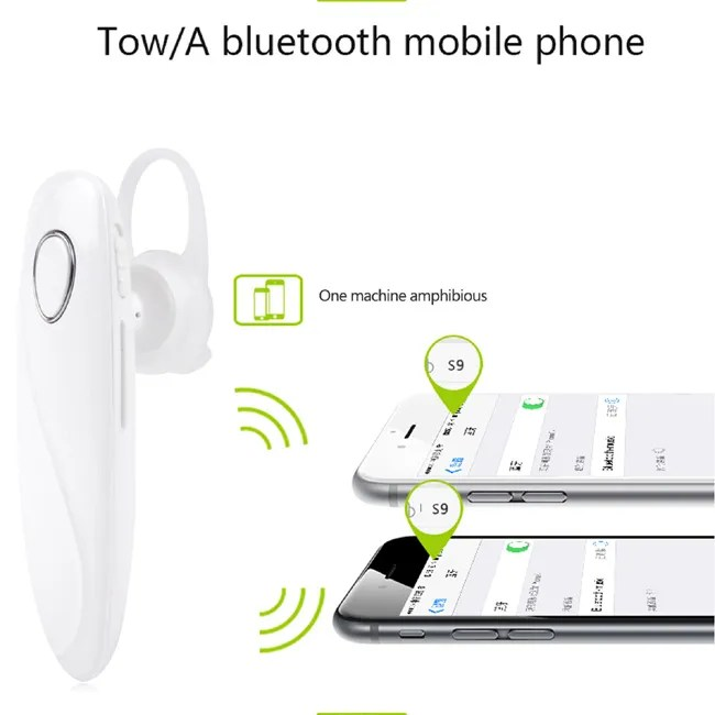 Bluetooth Headset Earphone Earbud for iPhone Samsung S9 S8