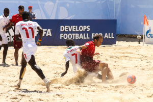Portugal não foi capaz de superar a força física africana