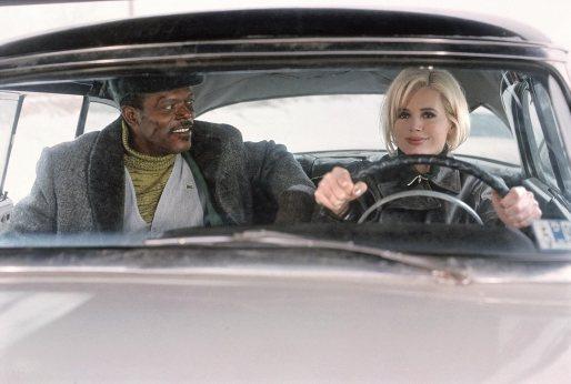 Geena Davis e Samuel Jackson in una scena del film Spy