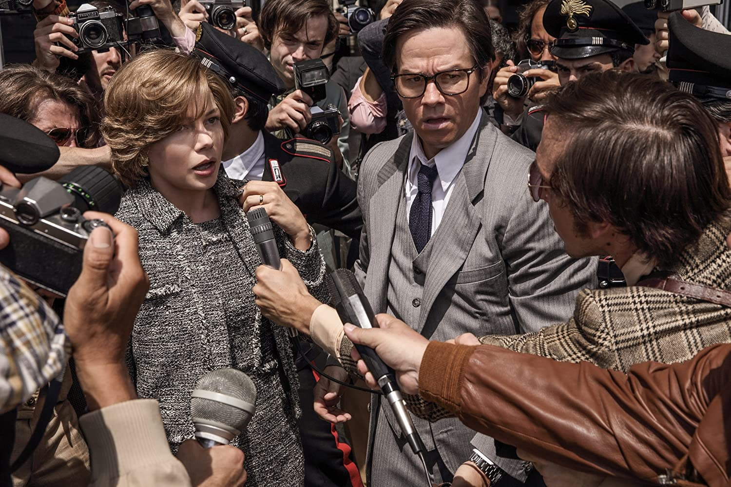 Mark Wahlberg and Michelle Williams in All the Money in the World (2017)