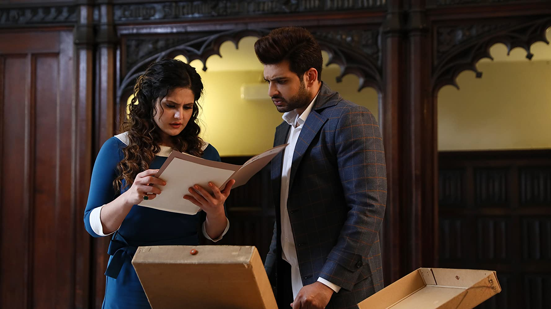 Zareen Khan and Karan Kundrra in 1921 (2018)