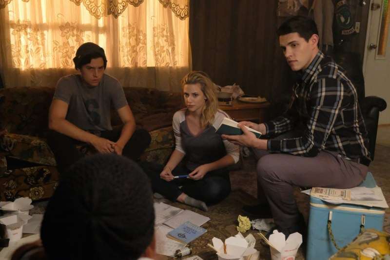 Cole Sprouse, Lili Reinhart, and Casey Cott in Riverdale (2016)