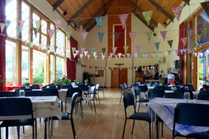 Hall with vintage bunting