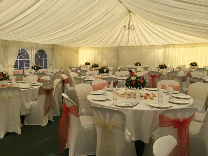 marquee in the garden