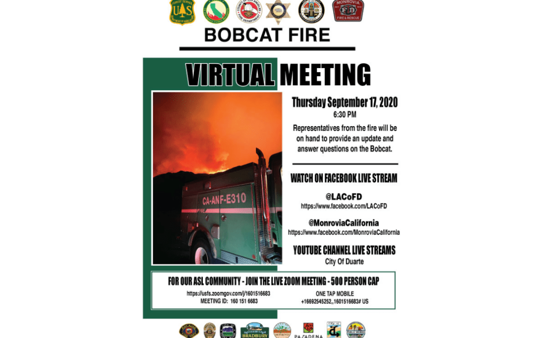Monrovia Provides Superior Crisis Comms During Bobcat Fire