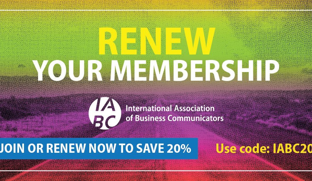 Join IABC Now and Save!