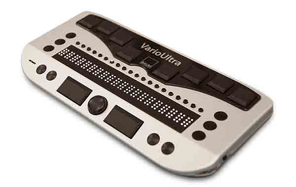 Image of Vario Ultra 20 cell Braille display on white background.