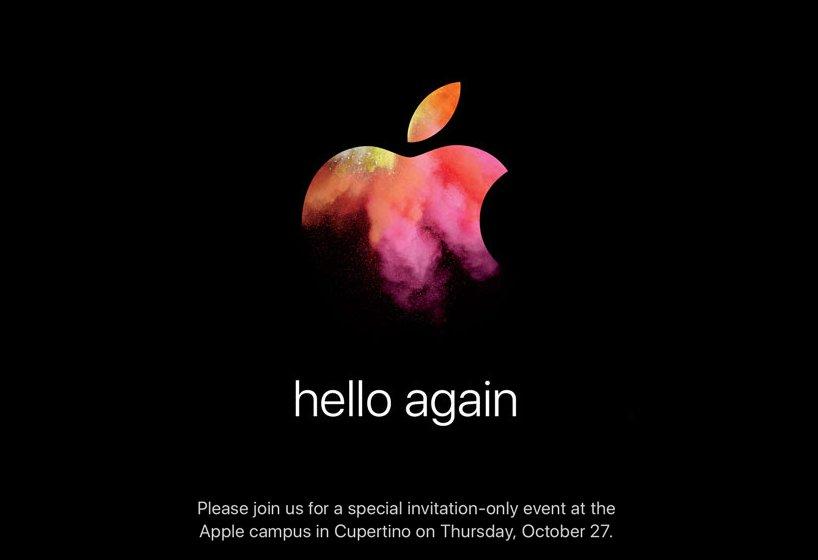 Apple invite for its Hello Again event.