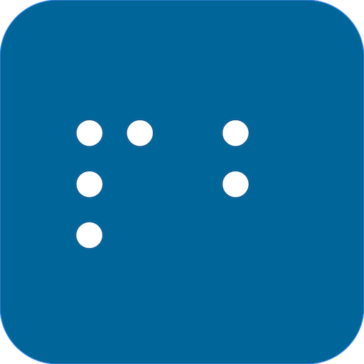 PocketBraille icon with letters P and B in Braille.