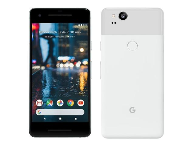 Google Pixel 2 front and back