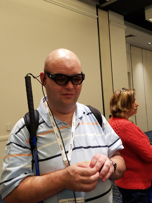 Michael Doise wearing Horizon Glasses From Aira