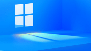 The Windows 11 Logo On a dark blue background