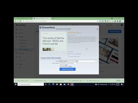 Dream Host Tutorial How To Install WordPress