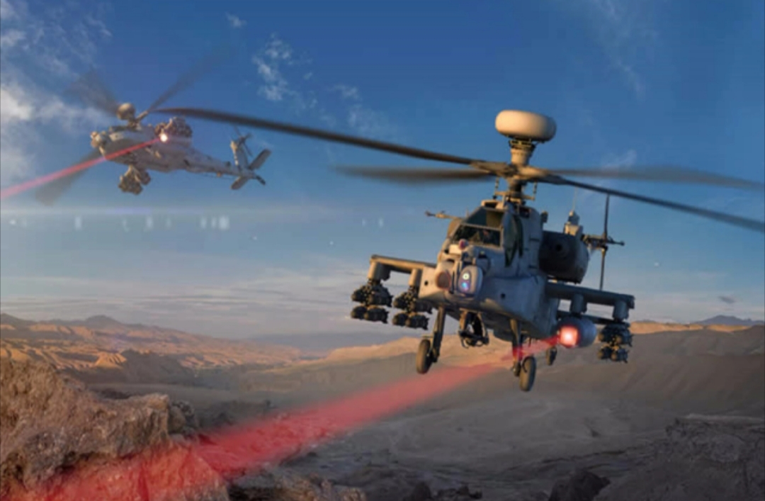 Watch US Apache Helicopter Firing Laser
