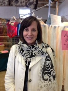 A Beautiful Customer in Her New Angora Scarf!