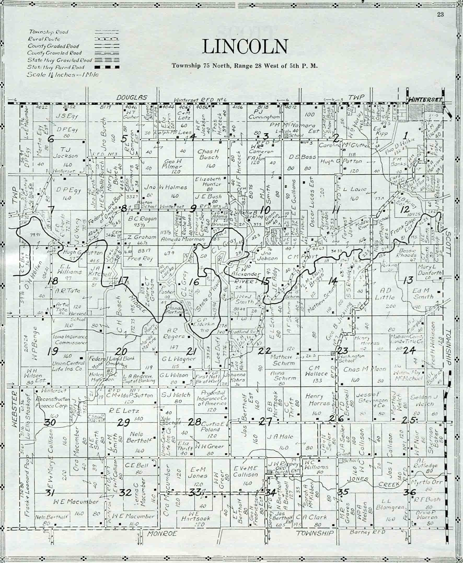 Douglas County Plat Map