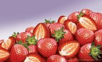 Illustration of a mound of strawberries. Digital artwork by Christopher Johnson.