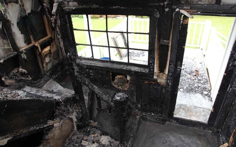 Area inside the back door