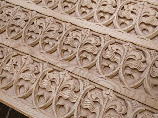 Filigree Carving, Oak. Newcastle Cathedral.